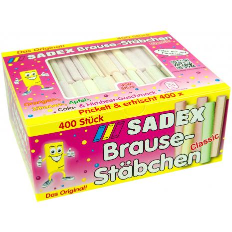 Sadex Fizzy Sherbet Sticks, 400 Pcs, 3.73 lbs