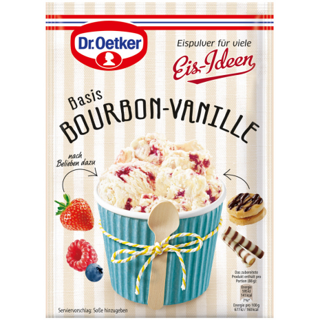 Dr. Oetker Ice Cream Idea, Bourbon Vanilla Flavor