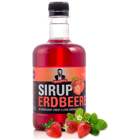 Sirup Royale Beverage Syrup Strawberry Flavor
