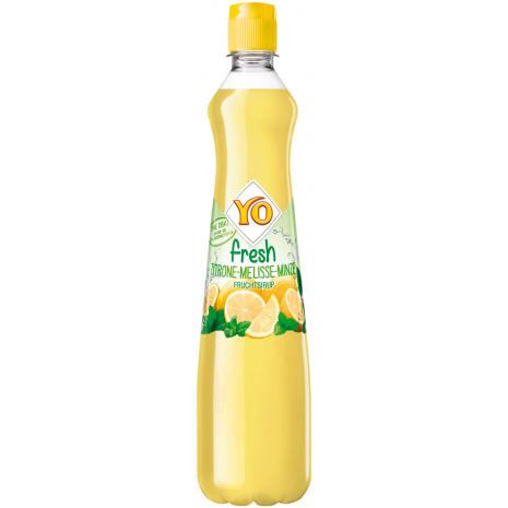 YO Beverage Syrup Fresh Lemon–Lemon Balm–Mint