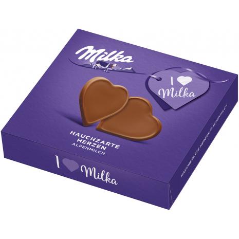 I Love Milka Very Delicate Milk Chocolate Hearts
