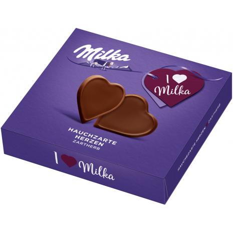 I Love Milka Very Delicate Dark Chocolate Hearts