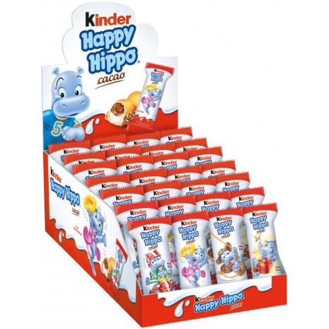Ferrero Kinder Happy Hippo Cacao, 28 Bars, Counter Display