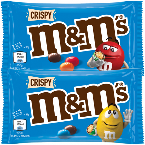 m&m's Crispy 36g Individually Wrapped