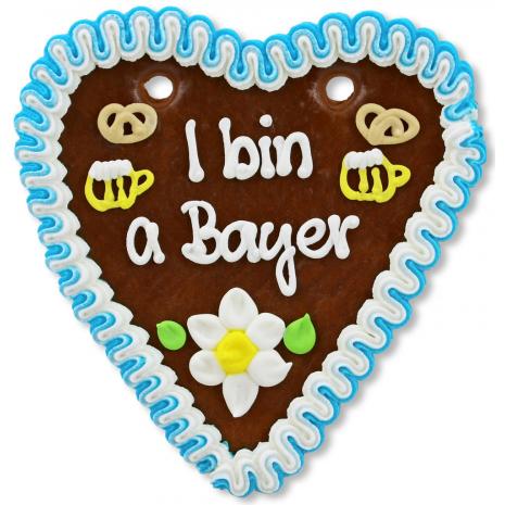 "Gingerbread Heart Medium ""I bin a Bayer"""