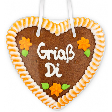 """Gingerbread Heart Small """"Grias Di"""""""
