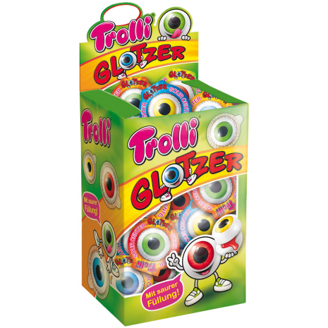 Trolli Eyeball Soft Fruit Gums, 40 Pcs, Box
