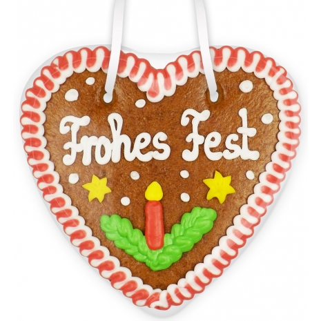 "Gingerbread Heart Small ""Frohes Fest"""