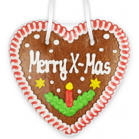 "Gingerbread Heart Small ""Merry X-Mas"""