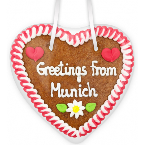 "Gingerbread Heart Small ""Greetings from Munich"""