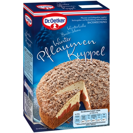 Dr. Oetker Baking Mix for Winter Plum Dome