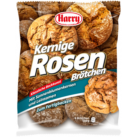 Harry Hearty Rosenbroetchen, 6 Pcs, 1.12 lbs