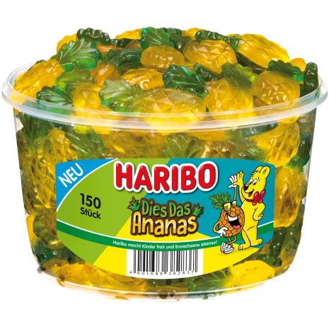 Haribo Pineapples 2.65 lbs Tub