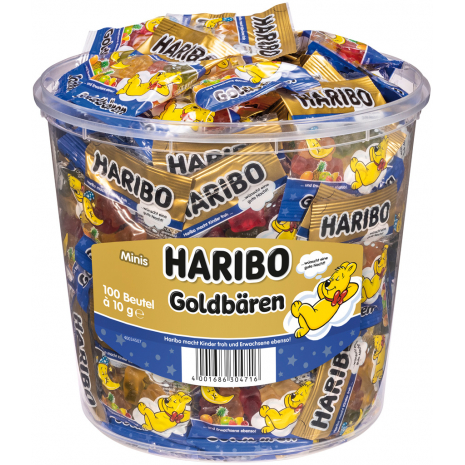 "Haribo ""Good Night"" Gold Bears Hotel-Edition 100 Mini Bags, Tub"