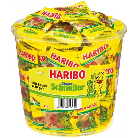 Haribo Pacifiers 100 Mini Bags, Tub