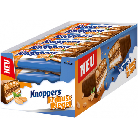 Storck Knoppers Peanut Bars 24x40g Counter Display
