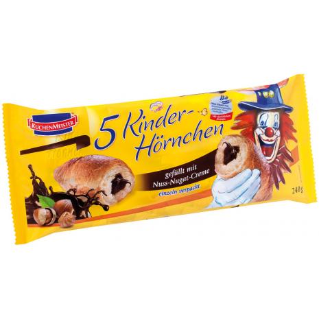 Kuchenmeister Croissants with Hazelnut/Nougat Cream Filling 5-Pack