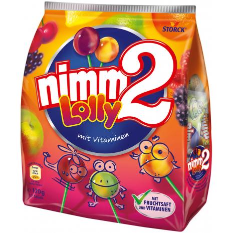 Storck Nimm2 Lollipops, 12 Pcs, 4.23 oz Bag
