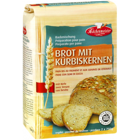 Kuechenmeister Baking Mix for Pumpkin Seed Bread 2.20 lbs