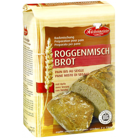 Kuechenmeister Baking Mix for Rye Bread 2.20 lbs