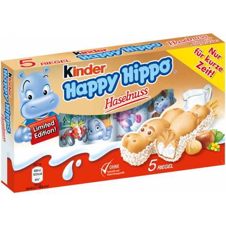 Ferrero Kinder Happy Hippo Hazelnut 5-Pack