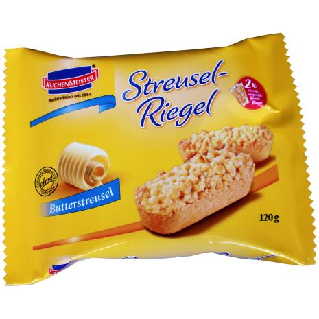 "Kuchenmeister Streusel Cake Bars ""Butter"" 2-Pack"