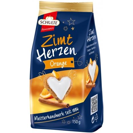 Schulte Cinnamon Hearts Orange 5.29 oz Bag