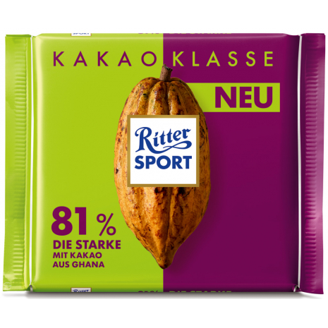 Ritter Sport Cocoa Selection 81% Strong Dark Chocolate