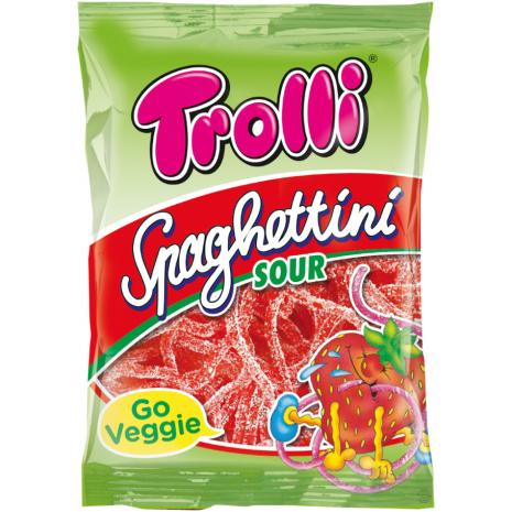 Trolli Spaghettini Sour Strawberry 3.53 oz Bag