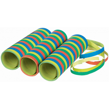 Streamers In Striped Colors 3-Pack