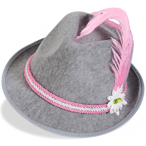 Bavaria Hat With Pink-White Cord 58 cm / 23 inches