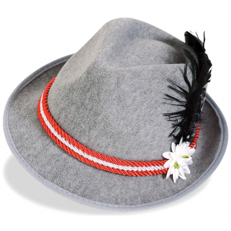 Bavaria Hat With Red-White Cord 58 cm / 23 inches