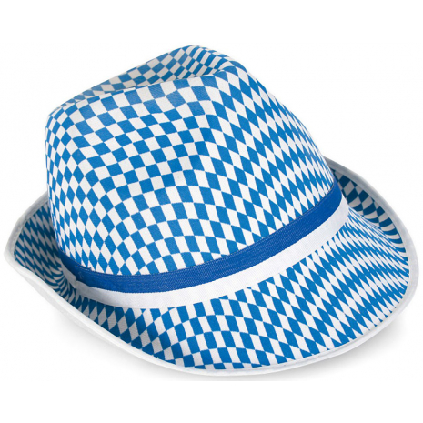 Hat With Bavarian Blue-White Diamond Pattern 58 cm / 23 inches
