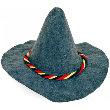 Seppl Hat With Black-Red-Gold Cord 58 cm / 23 inches