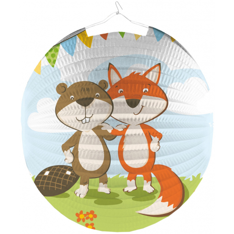 "Riethmueller Lantern ""Fox & Beaver"" Ø 25 cm / 9.8 inches"