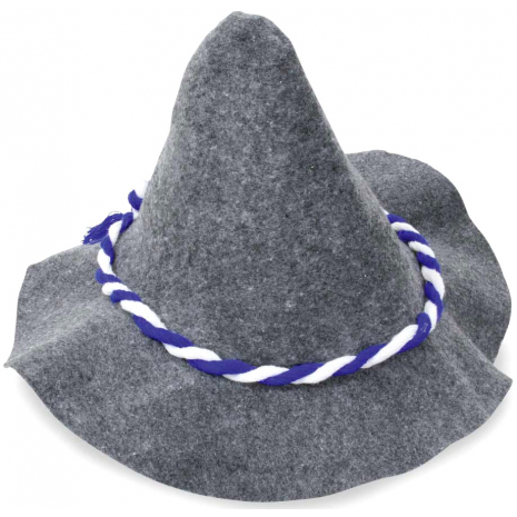 Seppl Hat With Blue-White Cord 58 cm / 23 inches