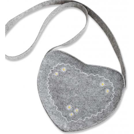 Oktoberfest Handbag / Heart-Shaped Felt Bag