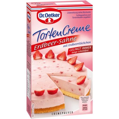Dr. Oetker Cake Cream, Strawberry Cream Flavor