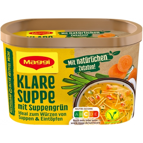 Maggi Clear Soup with Greens, Tub