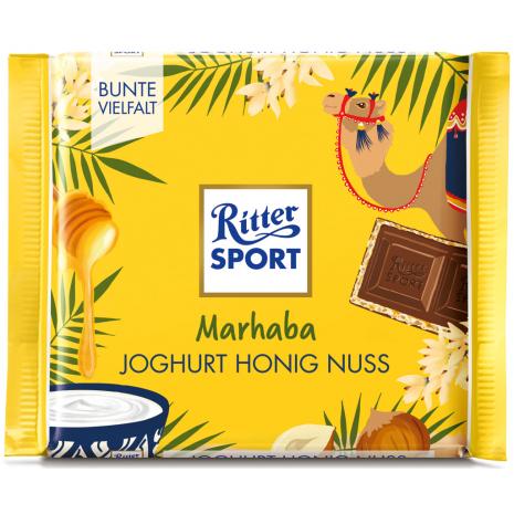 """Ritter Sport """"Marhaba"""" Yogurt-Honey-Hazelnut 3.53 oz"""