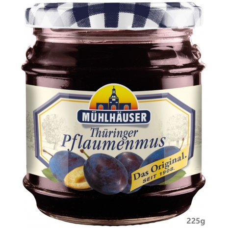 Muehlhaeuser Original Thuringian Plum Butter 7.94 oz Jar