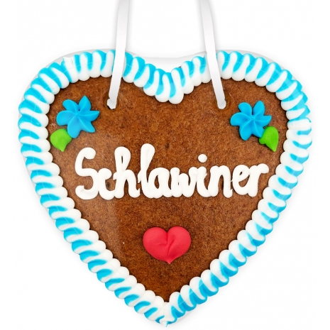 """Gingerbread Heart Small """"Schlawiner"""""""