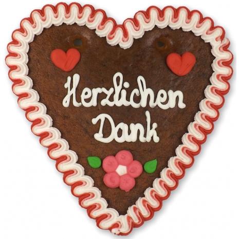 "Gingerbread Heart Medium ""Herzlichen Dank"""