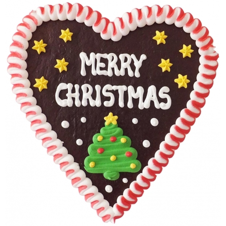 """Gingerbread Heart Large """"Merry Christmas"""""""