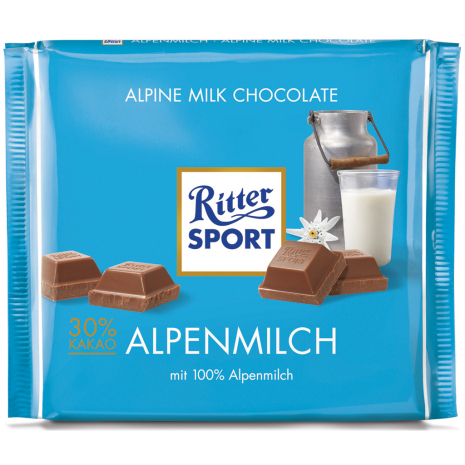 Ritter Sport Alpine Milk Chocolate 8.82 oz