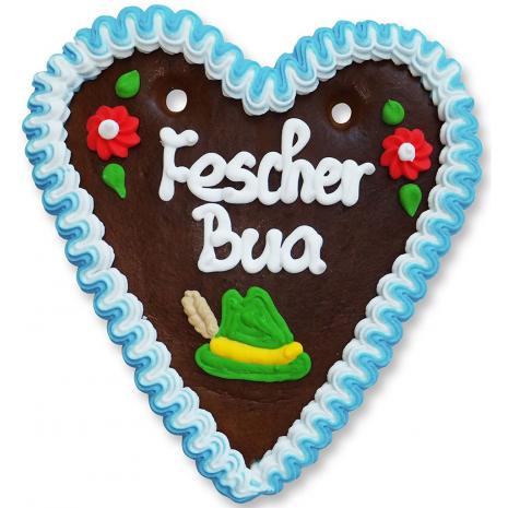 """Gingerbread Heart Medium """"Fescher Bua"""""""
