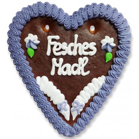 """Gingerbread Heart Medium """"Fesches Madl"""""""
