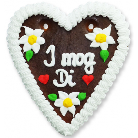 "Gingerbread Heart Medium ""I mog Di"""