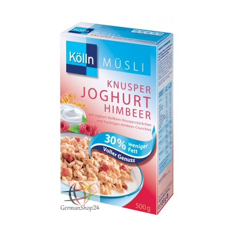 Koelln Muesli Crunchy Yogurt Raspberry with 30% Less Fat