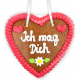 "Gingerbread Heart Small ""Ich mag Dich"""